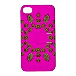 Sweet Hearts In  Decorative Metal Tinsel Apple iPhone 4/4S Hardshell Case with Stand