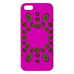 Sweet Hearts In  Decorative Metal Tinsel Apple iPhone 5 Premium Hardshell Case
