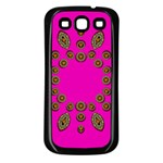 Sweet Hearts In  Decorative Metal Tinsel Samsung Galaxy S3 Back Case (Black)