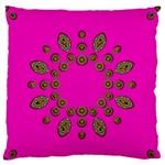 Sweet Hearts In  Decorative Metal Tinsel Large Flano Cushion Case (Two Sides)