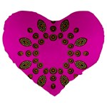 Sweet Hearts In  Decorative Metal Tinsel Large 19  Premium Flano Heart Shape Cushions
