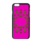 Sweet Hearts In  Decorative Metal Tinsel Apple iPhone 6/6S Black Enamel Case