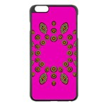 Sweet Hearts In  Decorative Metal Tinsel Apple iPhone 6 Plus/6S Plus Black Enamel Case