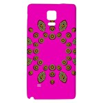 Sweet Hearts In  Decorative Metal Tinsel Galaxy Note 4 Back Case