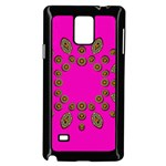 Sweet Hearts In  Decorative Metal Tinsel Samsung Galaxy Note 4 Case (Black)