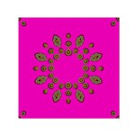 Sweet Hearts In  Decorative Metal Tinsel Small Satin Scarf (Square)