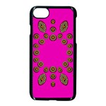 Sweet Hearts In  Decorative Metal Tinsel Apple iPhone 7 Seamless Case (Black)