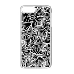 Fractal Sketch Dark Apple Iphone 8 Plus Seamless Case (white) by jumpercat