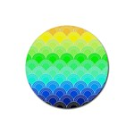 art deco rain bow Rubber Round Coaster (4 pack)