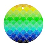 art deco rain bow Round Ornament (Two Sides)