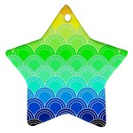 art deco rain bow Star Ornament (Two Sides)