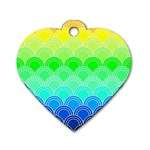 art deco rain bow Dog Tag Heart (Two Sides)