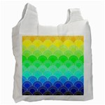 art deco rain bow Recycle Bag (Two Side)