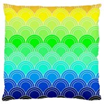 art deco rain bow Large Cushion Case (One Side)