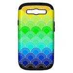 art deco rain bow Samsung Galaxy S III Hardshell Case (PC+Silicone)