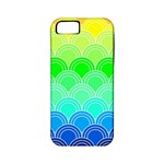 art deco rain bow Apple iPhone 5 Classic Hardshell Case (PC+Silicone)