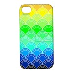 art deco rain bow Apple iPhone 4/4S Hardshell Case with Stand