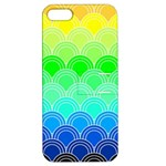art deco rain bow Apple iPhone 5 Hardshell Case with Stand
