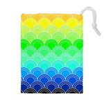 art deco rain bow Drawstring Pouches (Extra Large)