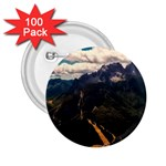 Italy Valley Canyon Mountains Sky 2.25  Buttons (100 pack)