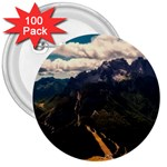 Italy Valley Canyon Mountains Sky 3  Buttons (100 pack)