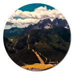 Italy Valley Canyon Mountains Sky Magnet 5  (Round)