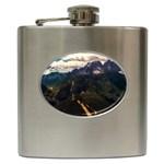 Italy Valley Canyon Mountains Sky Hip Flask (6 oz)