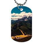 Italy Valley Canyon Mountains Sky Dog Tag (Two Sides)