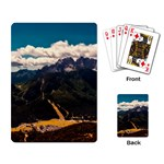 Italy Valley Canyon Mountains Sky Playing Card