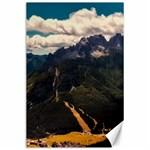Italy Valley Canyon Mountains Sky Canvas 24  x 36