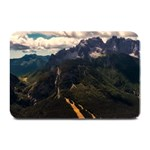 Italy Valley Canyon Mountains Sky Plate Mats