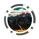 Italy Valley Canyon Mountains Sky Poker Chip Card Guard