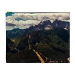 Italy Valley Canyon Mountains Sky Cosmetic Bag (XL)