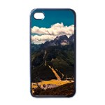 Italy Valley Canyon Mountains Sky Apple iPhone 4 Case (Black)