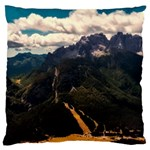 Italy Valley Canyon Mountains Sky Large Cushion Case (Two Sides)