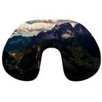 Italy Valley Canyon Mountains Sky Travel Neck Pillows