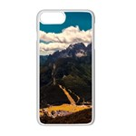 Italy Valley Canyon Mountains Sky Apple iPhone 7 Plus Seamless Case (White)