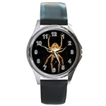 Insect Macro Spider Colombia Round Metal Watch