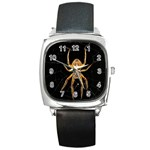 Insect Macro Spider Colombia Square Metal Watch