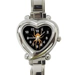Insect Macro Spider Colombia Heart Italian Charm Watch