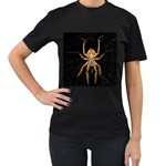 Insect Macro Spider Colombia Women s T-Shirt (Black) (Two Sided)
