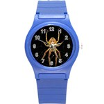 Insect Macro Spider Colombia Round Plastic Sport Watch (S)