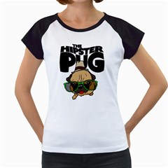 The Hipster Pug Women s Cap Sleeve T by allthingseveryday