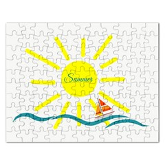 Summer Beach Holiday Holidays Sun Rectangular Jigsaw Puzzl by BangZart