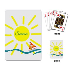 Summer Beach Holiday Holidays Sun Playing Card by BangZart