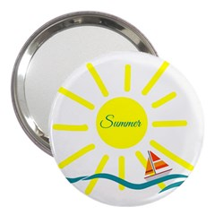 Summer Beach Holiday Holidays Sun 3  Handbag Mirrors by BangZart