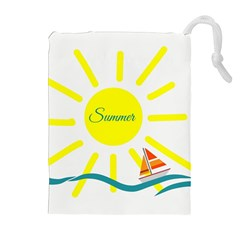 Summer Beach Holiday Holidays Sun Drawstring Pouches (extra Large) by BangZart