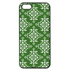 St Patrick S Day Damask Vintage Apple Iphone 5 Seamless Case (black) by BangZart