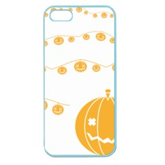 Pumpkin Halloween Deco Garland Apple Seamless Iphone 5 Case (color) by BangZart