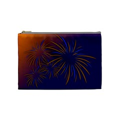 Sylvester New Year S Day Year Party Cosmetic Bag (medium)